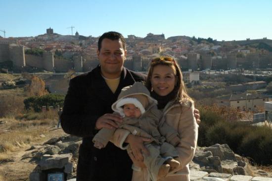 "Family Photo at ""Las Murallas de Avila"""