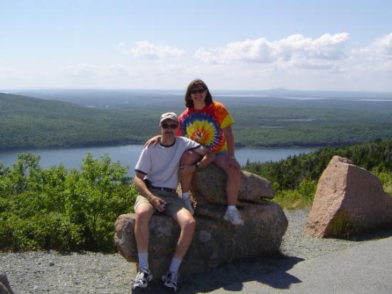 บาร์ฮาร์เบอร์, เมน: Merv and I on the way up to Cadillac Mountain.