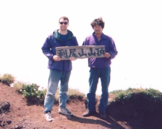 Rishirifuji-cho, ญี่ปุ่น: I had the good fortune to meet this gentleman, Kameda-san, half way up the side of Mt. Rishiri o