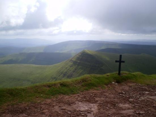 Brecon Beacons National Park, UK: from the summit of Pen-y-Fan