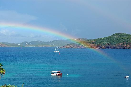 Marriott's Frenchman's Cove: Rainbow from balcony