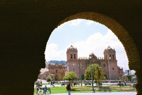 กุสโก, เปรู: catedral y plaza de armas, cusco, perú