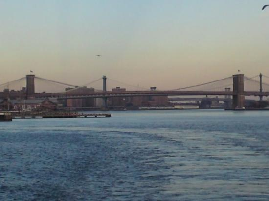 สะพานบรู๊คลิน: View from Staten Island Ferry - Thursday December 25th