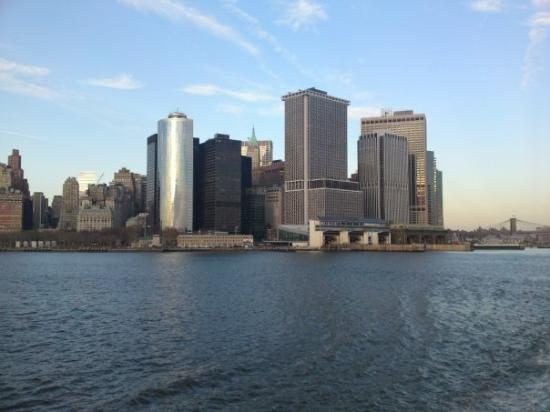 Manhattan Skyline: View from Staten Island Ferry - Thursday December 25th