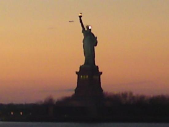Statue of Liberty: View from Staten Island Ferry - Thursday December 25th