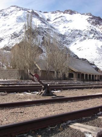 เมนโดซา, อาร์เจนตินา: Estacion Polvareda , hay que  poner alli de vuelta un tren a vapor