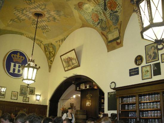 Hofbrauhaus Munchen: Just one part of the decorated ceilings