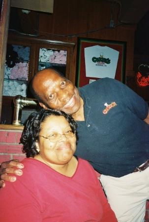 Corky's BBQ: Mama and the host at Corky's