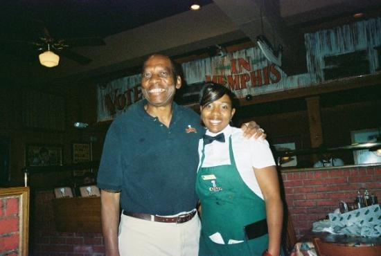 Corky's BBQ: The host and our waitress