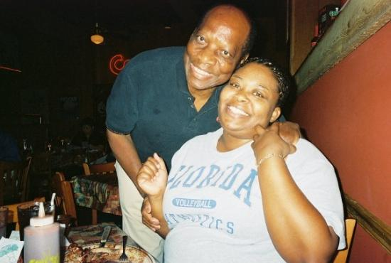 Corky's BBQ: Me and the host at Corky's