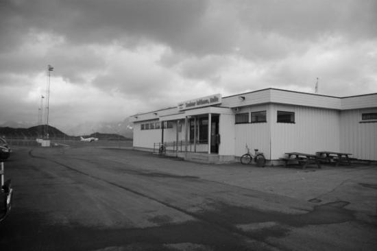 This is the little airport in Svolvaer