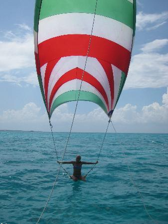 Cozumel Sailing: getting air