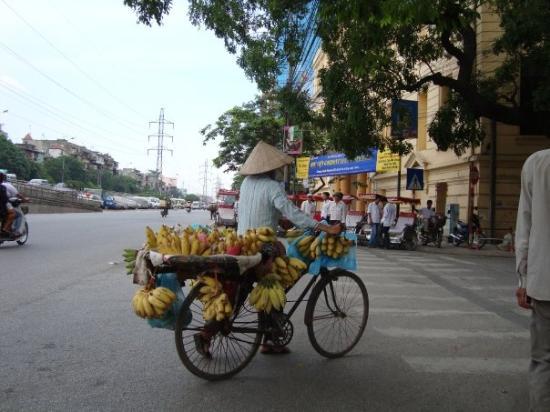 ฮานอย, เวียดนาม: Banana vendor.