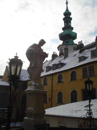 บราติสลาวา, สโลวะเกีย: There was still some snow in the city