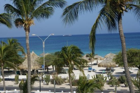 ออรานเจสตัด, อารูบา: View from our balcony at the resort