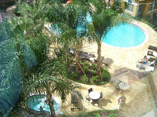 Homewood Suites by Hilton Lake Buena Vista-Orlando: View of pool from window
