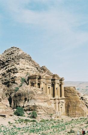 """อัมมาน, จอร์แดน: Petra - Al Deir (""""Le Monastère""""). Entièrement creusé dans la montagne."""