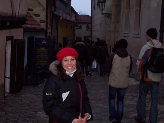 Castle District: Nel vicolo d'oro al Castello di Praga.