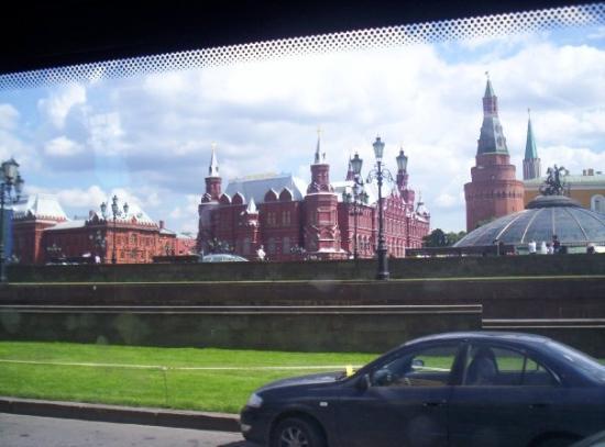 มอสโก, รัสเซีย: il cremlino dall'autobus