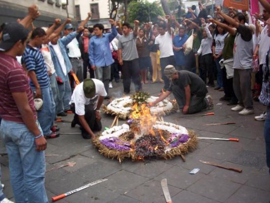 เม็กซิโกซิตี, เม็กซิโก: proteste a Città del mexico