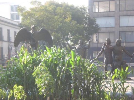เม็กซิโกซิตี, เม็กซิโก: Scène représentant la naissance de la ville de Mexico