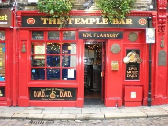 The Temple Bar Pub: La facciata del mitico Temple Bar