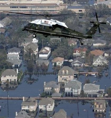 Hurricane Katrina Tour - America's Greatest Catastrophe: My house somewhere in the water in Lakeview. September 2005.