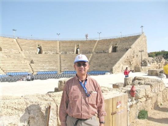 Caesarea Roman Theater, Caesarea, Israel. April 2009