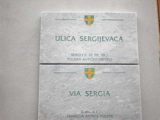Pula, โครเอเชีย: Via Sergia alla Starigrad