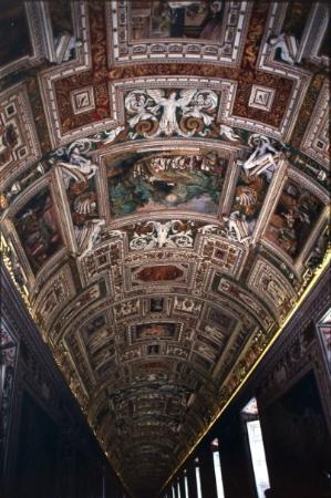 พิพิธภัณฑ์วาติกัน: Sala de mapas, Museos Vaticanos. No Flash!! como decian los guardias, jeje Ilusos...