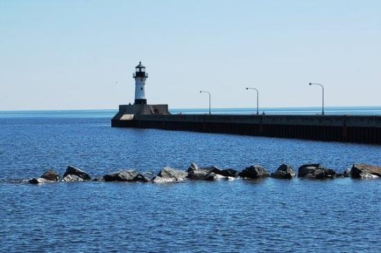 Canal Park: The Duluth Canal Lighthouse, built in 1909. Duluth, Minnesota