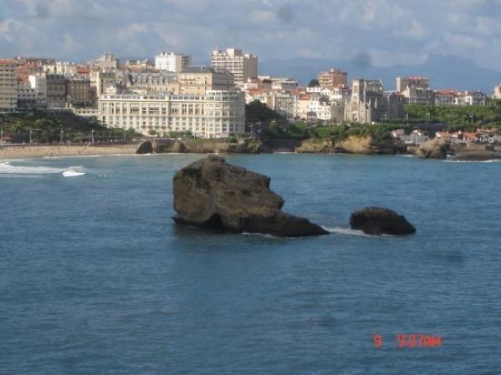 บิอาร์ริตซ์, ฝรั่งเศส: Le 1er jour en arrivant à Biarritz