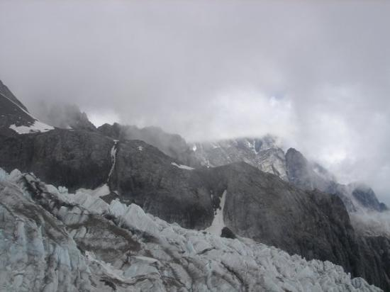 Yulong (Jade Dragon) Mountain: A glacier.