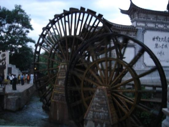 Old Town of Lijiang - China: We save quite a lot of fancy watermills, but I do not think they had any functional use.