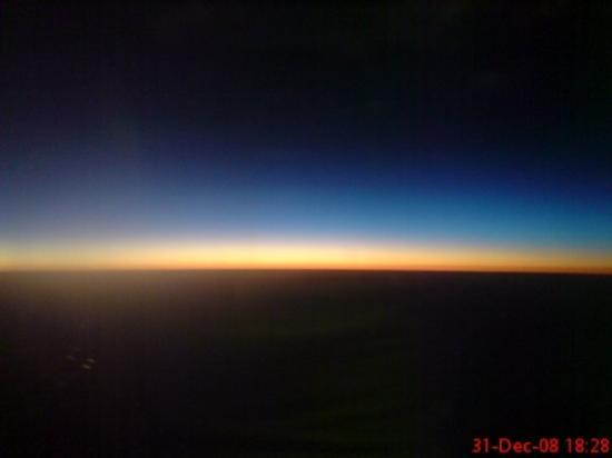 นิวเดลี, อินเดีย: View of the Sunset -- on a plane to Delhi from Bangalore