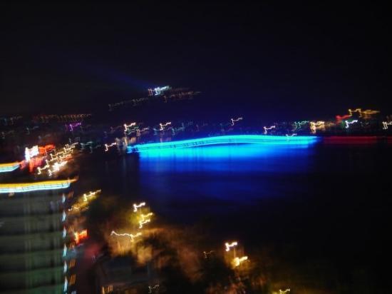 ซานย่า, จีน: The view from the hotel room in the evening.