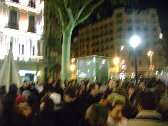 Plaza de Cataluna: Año nuevo BCN