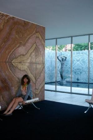 Pabellon Mies van der Rohe: Muro de Onix doré, Pabellon Alemá de Barcelona