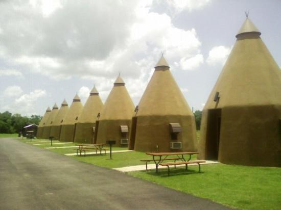 The TeePee Motel in Wharton TX. About the last of its kind in the world.