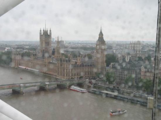 รัฐสภา: londra dalla london eye agosto 2008