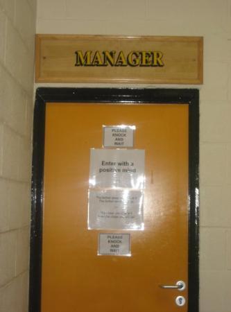 Burslem, UK: Manager's office