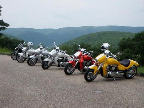 Just taking a little break while cruising the Blue Ridge Parkway.