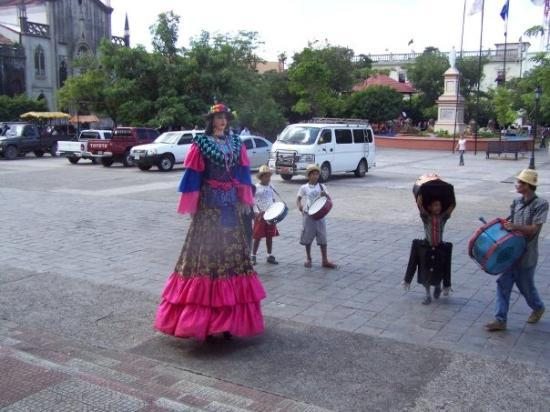In the city of Leon we were fascinated with a group of dancers and drummers until I asked the gu