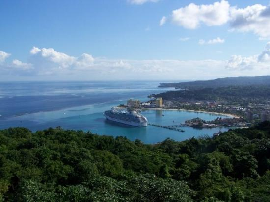 Ocho Rios, Jamaica: A view of the ship from Mystic Mountain