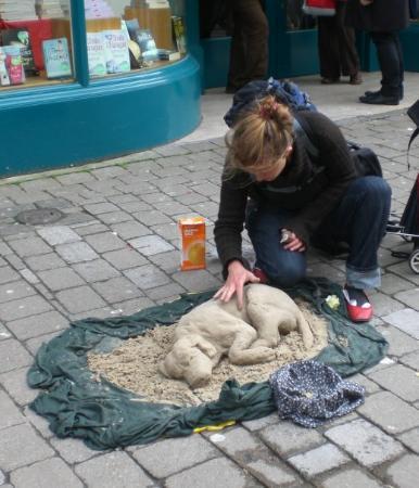 กัลเวย์, ไอร์แลนด์: c'est super sympa je trouve !! de loin, on aurait dit qu'elle carressait un chien, en fait, ce n