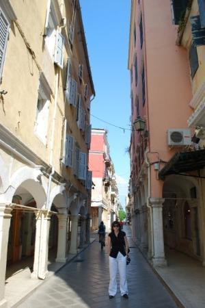 Corfu Town, กรีซ: Targovskite ulici na Kerkyra