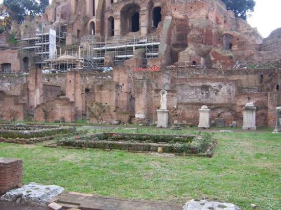 Palatine Hill: El jardín del palacio de las Vestales, ahí se bañaban desnudas
