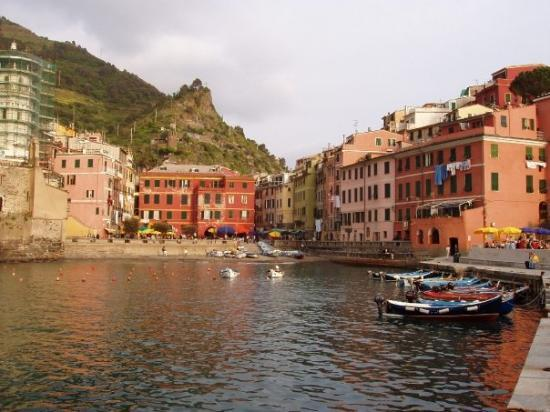 Vernazza, Italy. Looks like a postcard.