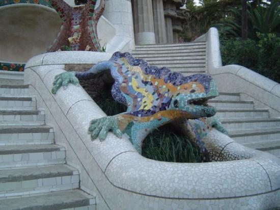กูเอลปาร์ค: La salamandre de Gaudi