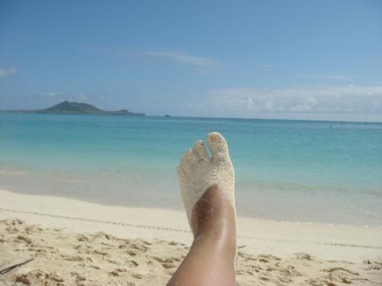 โออาฮู, ฮาวาย: my foot at Kailua